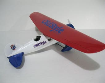 "Old Style Beer Diecast Airplane, Large 12"" x 8"" Ertl Diecast Airplane Bank, Ertl Diecast"