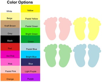 24 Pieces - Baby Feet Die Cut Shapes, Paper Baby Feet Shapes, Baby Feet Shape Cut Outs, Baby Shower Shapes, Baby Shower Decorations