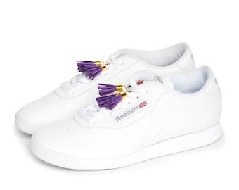 Tassel Me in Purple - Shoelace Charms