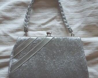 Vintage Hilmar (Manchester, England) silver lame evening bag