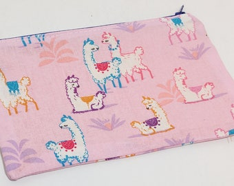 Llama Ask You A Question Novelty Zipper Pouch - makeup bag; pencil case; gift for her; cosmetic bag; carry all; gadget case; birthday;