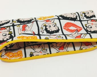 Betty Boop Novelty Zipper Pouch Toothbrush Case; Makeup bag; pencil case; gift for her; cosmetic bag; carry all; gadget case; birthday