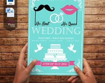 Wedding Invitation-Popular flyer-Nice Wedding Flyer-Instant Download-Invitation card-Design flyer-A4 and US Letter