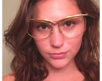 1980's Floating Frames Glasses by Derapage like Cazal