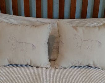 Mini Throw Pillow - Waterhorse