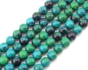 Green Phoenix Beads ,Gemstone beads,Phoenix Stone Beads for Jewelry Making, Beads--about ---15inch --One Full Strand-NS-008