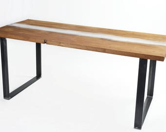 TRASPARENT RESIN TABLE  - Resin and Wood Desk - Resin and Wood Table