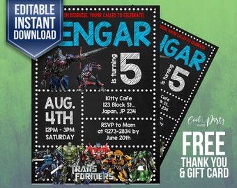 Transformers invitation,Transformers birthday invitation,Transformers invitation, Transformers birthday,Transformers, Printable, Transformer