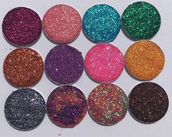 Pressed Glitter Eyeshadow Custom Palette 12 Piece Cruelty Free