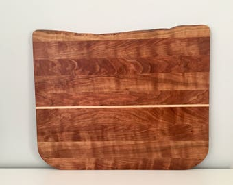 Facegrain cherry and maple wood cutting board