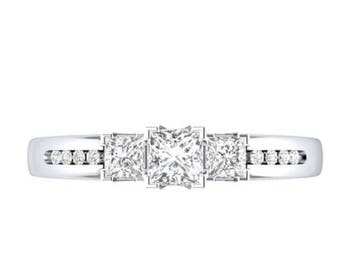 Sterling Silver 925 White Sapphire Engagement Ring