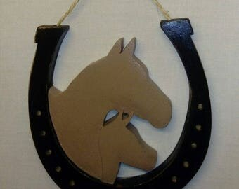 Horse Shoe with Mare & Foal