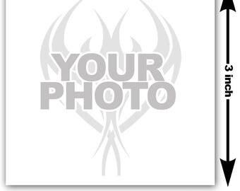 3x3 inch Image or logo as custom temporary tattoo - upload design or photo & we create customized temp fake tattoos - Personalized