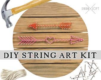 DIY Arrows String Art Wood Pallet Sign Yarn Art Kit