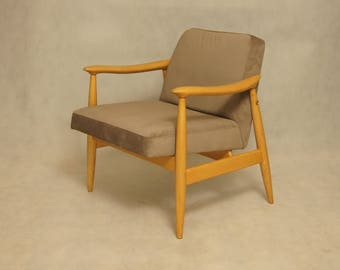 Mid-Century Polish Lounge Chair by J. Kędziorek, 60s.