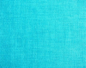 VERY NICE CANVAS WEAVE TURQUOISE BLACK FLANNEL BACK WITH 3 BUTTONS