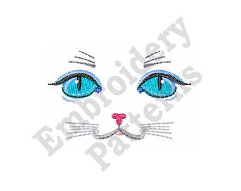 Cat Face - Machine Embroidery Design