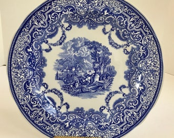 Vintage Spode Blue Room Collection Cintinental Views Plate