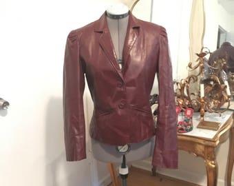 Leather 1980 Bermans  coat