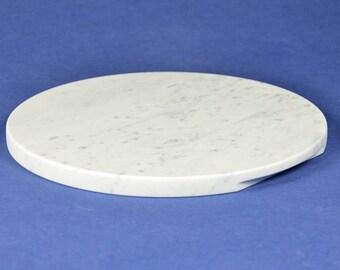 Round Top Ø 37 cm in white Carrara marble