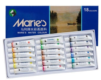 Marie's Extra fine watercolor Set of 18, 12 ml tubes