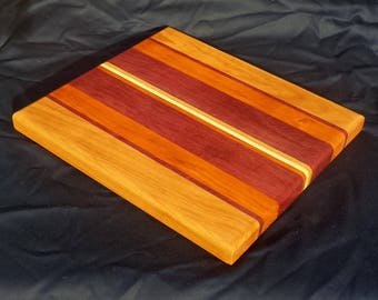 Exotic wood long grain cutting board