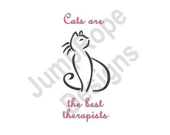 Cat Therapy - Machine Embroidery Design