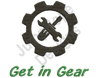 Get In Gear - Machine Embroidery Design