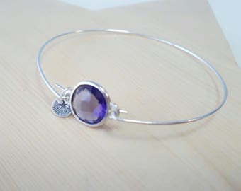 Silver bracelet with Crystal Amethyst. Silver Bracelet with Amatiste Crystal.