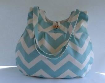 Aqua chevron purse