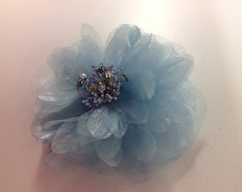 Organza flowers with rhinestones