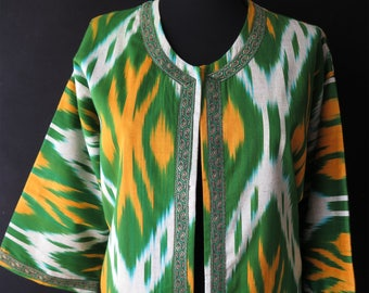 Cotton Uzbek ikat jacket