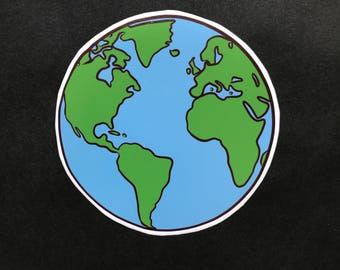 Earth Vinyl Sticker