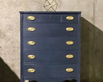 Navy Dixie Tallboy Dresser