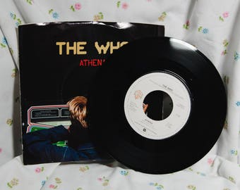 The Who (7 inch) Record - Athena / It's your turn -45 rpm picture sleeve