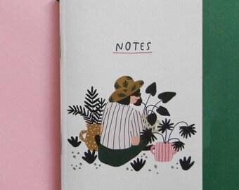 In the garden A6 notebook