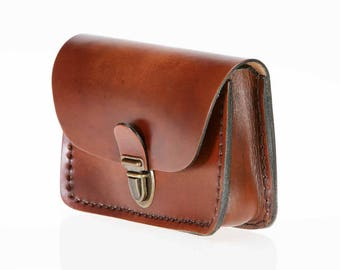 """""""Blue"""" leather pouch"""