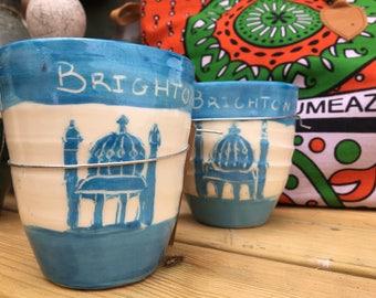 Hand Thrown Ceramic 'Brighton' Mug/Planter
