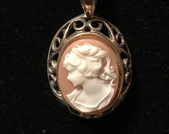 Sterling Chain with Cameo Pendant