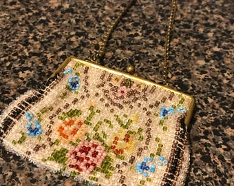 Vintage Coin Purse with Chain Strap