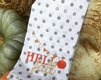 Hello Fall Hand Towel
