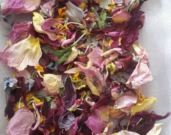 Organic biodegradable flower petal wedding confetti, vintage, eco wedding, eco wedding, bridal, natural, scatter.