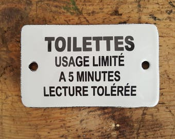 French enamel humor (toilet use limited to 5 minutes)