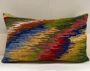 Boho Pillow Cover, Chenille Pillow, Colourful Pillow, Designer Pillow,  Throw Pillows,