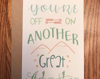 Congratulations and Good Luck Greeting Card
