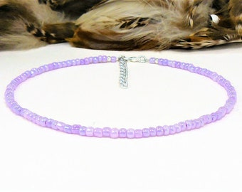 Seed Beaded Choker, Beaded Choker, Choker Necklace, Seed Bead Choker, Seed Bead Necklace, Glass Bead Choker, Boho Chic Choker, Beach Choker