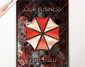 Umbrella Corporation, Resident Evil, artwork, handmade, PRINTABLE art, poster, instant download, digital print, home decor,wall art,download