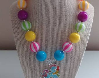 My Little Pony Rainbow Dash Bubblegum Bead Necklace