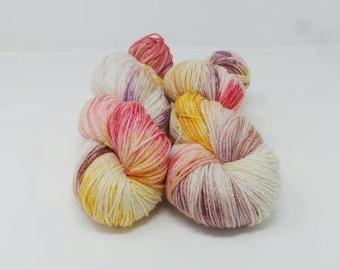 Edwardian - 4ply Spark hand dyed yarn – Superwash 75/20/5% Merino / Nylon / Lurex