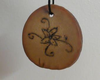 Avocado stone pendant
